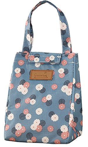 Dyshuai Outdoor Picnic Insulated Lunch Bag For Drinks Tote Food Handbag Cooler Bag Fresh Storage Bag Storage Organizer Floret