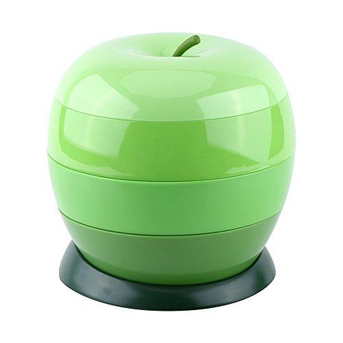 WEIYI Creative Apple Shape Rotating Food Storage Box Candy Snacks Holder Organizer