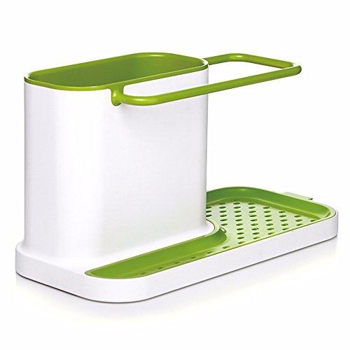 Brief Style Multi-Function GreenWhite Plastic Kitchen Storage Sink Drainer Rack Dish Washing Liquid Organizer Rack Holders