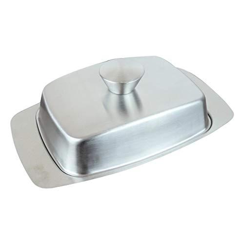 joyMerit Stainless Steel Butter Dish with Lid Restaurant Hotel Buffet Kitchen Food Container Cake Dessert Bread Storage Box - Style04 185x122cm