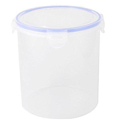 uxcell Plastic Kitchen Cylinder Food Bean Snack Nut Holder Storage Container Box Case 25L