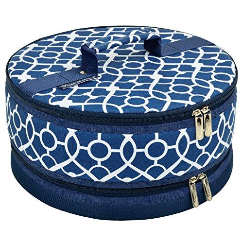 Picnic at Ascot Cake Carrier Trellis Blue