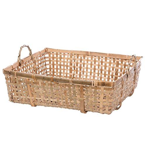 Skalny Rectangle Bamboo Storage Basket 18 x 15 x 575