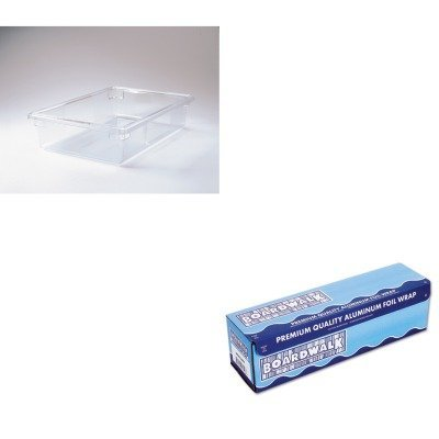 KITBWK7124RCP3309CLE - Value Kit - Rubbermaid-Clear Food Boxes 3 12 Gallons Capacity RCP3309CLE and Foil Heavy Roll 18x500 BWK7124