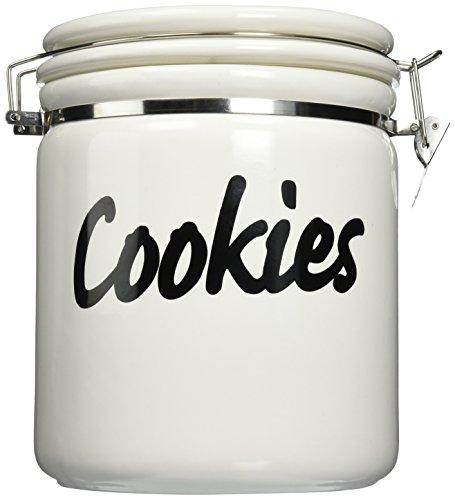 Oggi Jumbo 9-12-Inch Ceramic Cookie Jar White