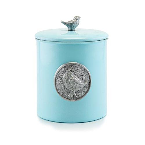 Old Dutch Lauren Bird Cookie Jar 4 quart Blue