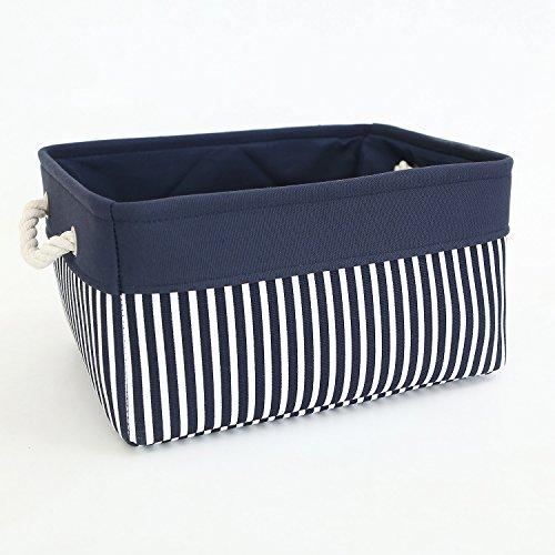 TcaFmac Small Decorative Fabric Storage Basket Bin Canvas Toy Storage Organizer Baby Laundry Basket