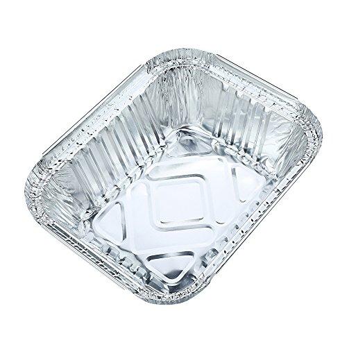 10pcs Square Disposable Aluminum Foil Pans Food Storage Containers Bakeware Pans with Lids-Crystallove Size 1