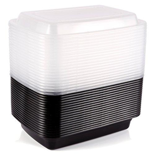 ENPAK Plastic Rectangular Food Grade Disposable Containers Take Out Microwave BPA Free 20pcs 16oz