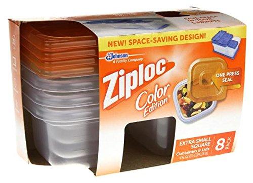 Ziploc Color Edition Orange Disposable Containers Lids 8 TOTAL Containers 8 Lids
