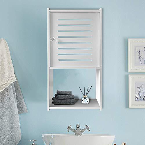 Bathroom Medicine Cabinet Small Medicine Storage Cabinet Wall Mount Bathroom Cabinet Organizer Storage with Door White