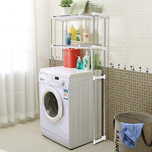 iKayaa Steel 2-layer Kitchen Bathroom Space Saver Cabinet Storage Shelf