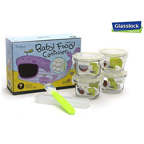 Glasslock YumYum Baby Food Container Box Set ROUND - WHALE