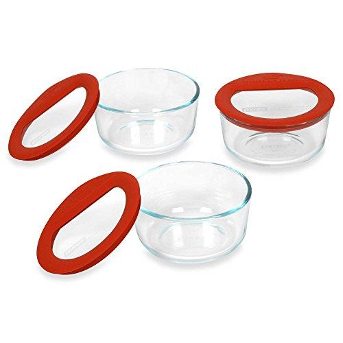 Pyrex No-Leak 3-Piece Glass Container Set