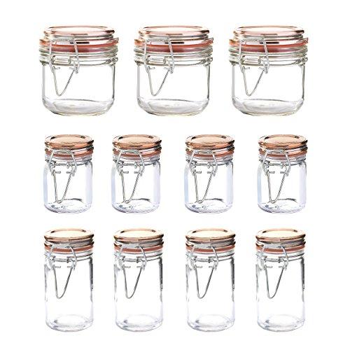 Kinetic 58300 Glassworks 11-Piece Glass Jar Storage Set Warm