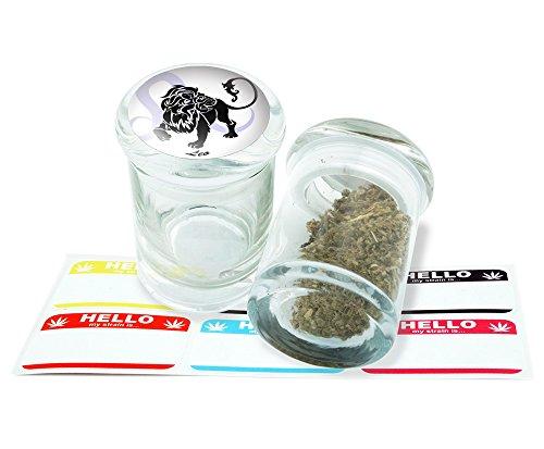 Leo Design Pop Top Glass Jar Storage With FREE 6 Labels Item PT21816-74