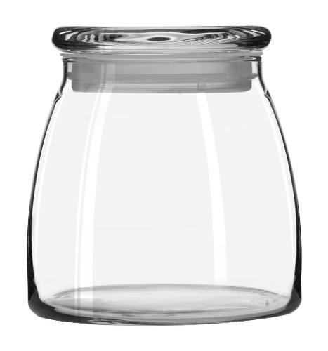 Libbey 71366 Vibe 42-Ounce Glass Storage Jars Set of 4