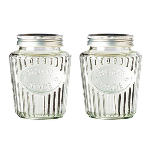 Amici Home A7CR101S2R Homemade Jar Medium Glass Storage Canister Clear