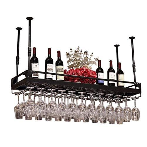 LLDDP Traditional Wine Rack Hanging Wine Racks  Wine Glass Rack  Red Wine Cup Holder  Goblet Rack  Bottle Rack  Glass Rack  Stemware Racks  Vintage Style Decoration Storage Shelf  Floating She