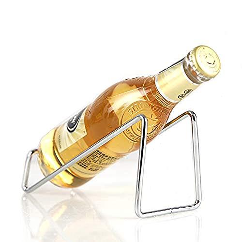 Suprobarware Wine Rack - Stainless Steel Single Wine Bottle Holder Rack Display - BRTL039 Silver