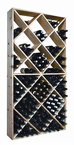 Wine Cellar Innovations Rustic Pine Solid Diamond Bin Wine Rack for 208 Wine Bottles Unstained