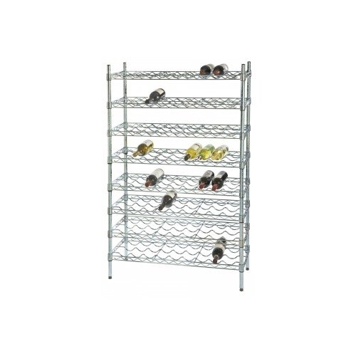 Focus Foodservice FFWS1448BK Single Wine Shelf 14 x 48 12 Bottles Per Shelf Black Epoxy Coating