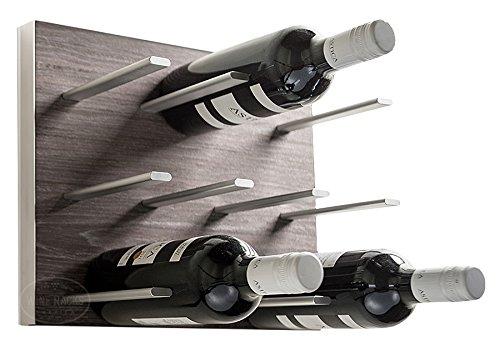 STACT Wall Mounted Wine Rack – Gray Oak