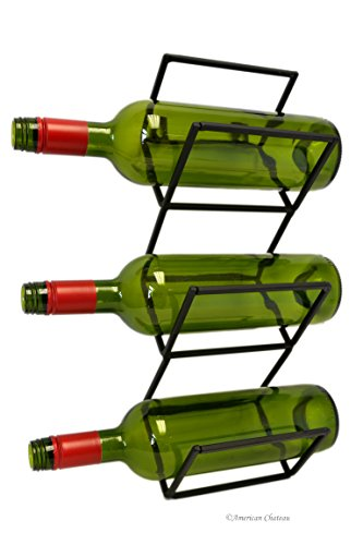 3 Bottle 16 Geometric Black Metal Stand Designer HorizontalVertical Wine Rack