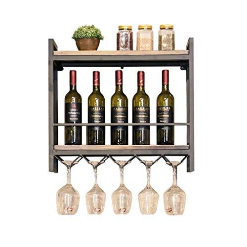Rustic State Wall Mounted Wood Wine Racks Iron Wine Racks Solid Wood Wall Hanging Racks Wine Glass Display Rack Shelf Goblet Rack Storage Size  Small