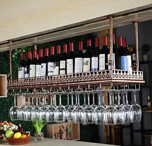 European Wine Rack Hanging Wine Glass Rack Upside Down Bar Wine Glass Rack Goblet Rack Creative European Wine Glass Rack Storage Color  B Size  60x35cm