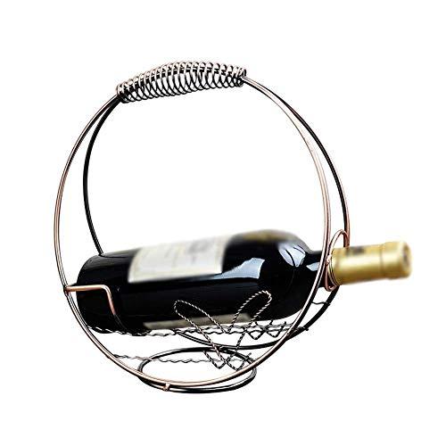 CGH Wine Rack Stainless Steel Wire Wine Rack Decoration Wine Bottle Rack Household Simple Retro Bronze