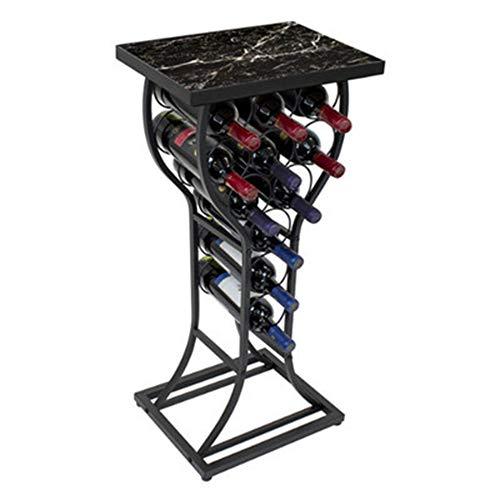 PLHMS Wine Rack Wrought Iron Floor Wine Rack Decoration Living Room Wine Display Rack Accommodates 11 Bottles Living Room Decorative Rack