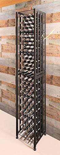 VintageView Case Crate Series - Bin 96 Bottle Floor Wine Rack Satin Black Stylish Modern Wine Storage with Label Forward Design