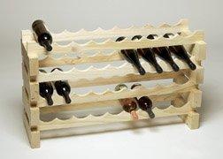 Modularack 36 Bottle Modular Wine Rack 4x9 Natural