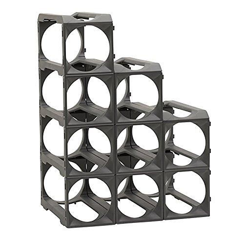 Stakrax - Stackable Modular Wine Rack - 12 Bottle Set