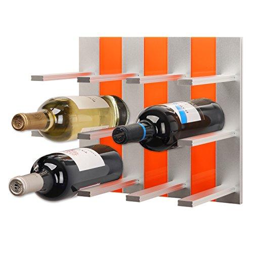 Topwinerack - Modular Wine Rack Wall Mounted Orange