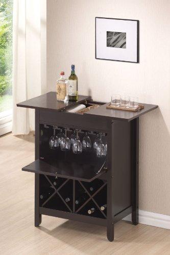 Acme 12240 Leo Wine Bar Cabinet Set Wenge Finish