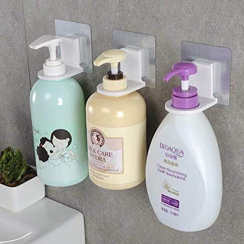 Shower Gel Bottle Rack Hook Bracket Bathroom Wall Magic Paste Shampoo Hand Sanitizer Suction Wall Type Seamless Hook 3 Pack