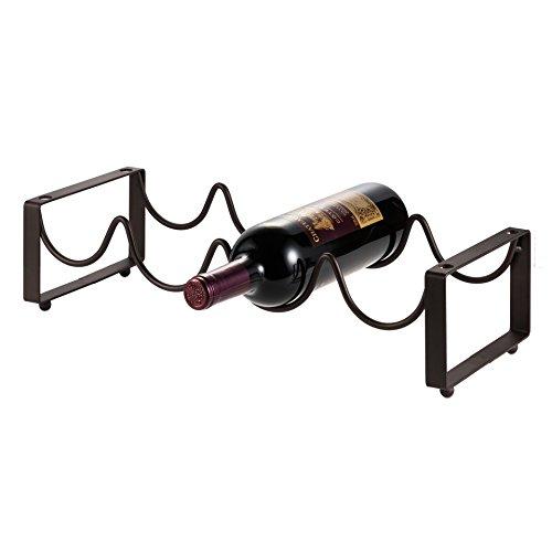 HALOViE Wine bottle Rack Stackable Storage Holds For 4 bottles