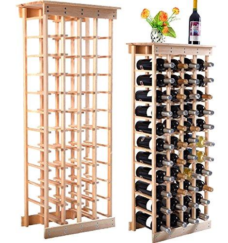 New 44 Bottle Wood Wine Rack Storage Display Shelves Kitchen Decor Natural New