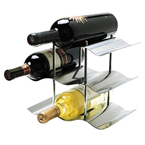 Oggi 9-Bottle Stainless Steel Wine Rack Set of 2 by Oggi