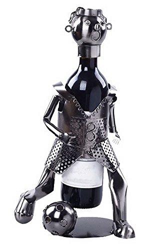 Wine Holder Stainless Steel Wine Rack Modern Metal Wine Rack Soccer Player