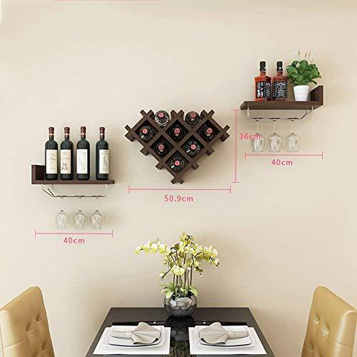 Yuany Wine Rack Horizontal Wine Bottle Rack Wine Bar Contemporary Wine Rack Bottle Wall Mounted Wine Rack Wine Bottle Rack Color  A