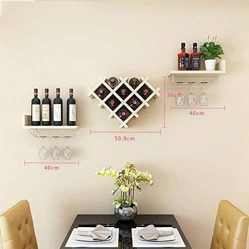 Yuany Wine Rack Horizontal Wine Bottle Rack Wine Bar Contemporary Wine Rack Bottle Wall Mounted Wine Rack Wine Bottle Rack Color  D