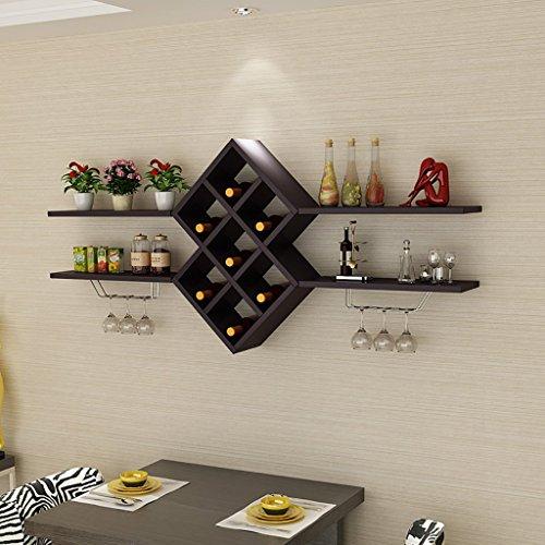 ZCCJJ Wine Bar Contemporary Wine Rack Bottle Wall Mounted Wine Rack Wine Bottle Rack Horizontal Wine Bottle Rack Size  B140cm