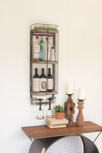 Kalalou Wire Bar Storage Cabinet