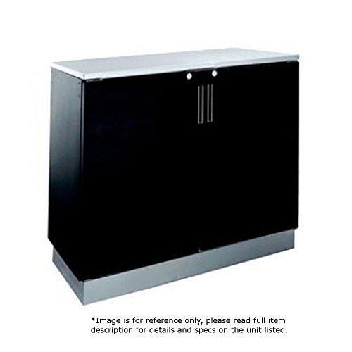 Krowne Metal BR48L Two Section Back Bar Storage Cabinet 48W Remote Refrigeration Hook-Up on Left