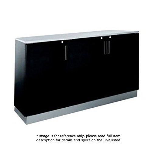 Krowne Metal BR72L Three Section Back Bar Storage Cabinet 72W Remote Refrigeration Hook-Up on Left