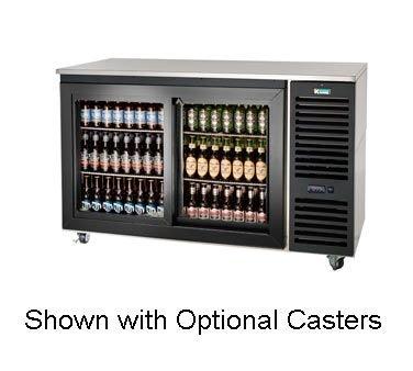 Krowne Metal SD60R Sliding Door Refrigerated Back Bar Storage Cabinet 60W x 24D Refrigeration on Right
