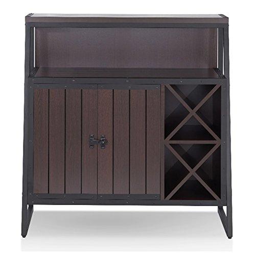 Industrial Wine Cabinet Liquor Storage Buffet Bundle w BONUS Wine Bottle Holder